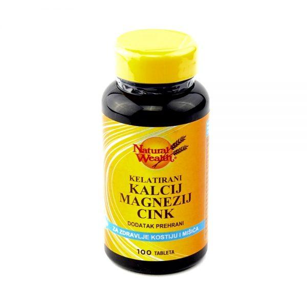 Natural Wealth® Kelatirani Kalcij Magnezij Cink