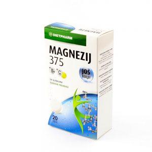 Dietpharm Magnezij 375 + vit.B + vit.C