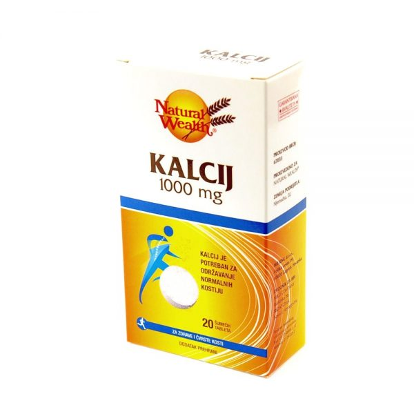 Natural Wealth® Kalcij 1000 mg
