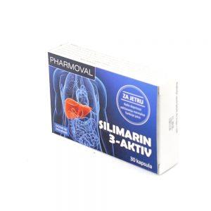 Pharmoval Silimarin 3-aktiv, 30 kapsula