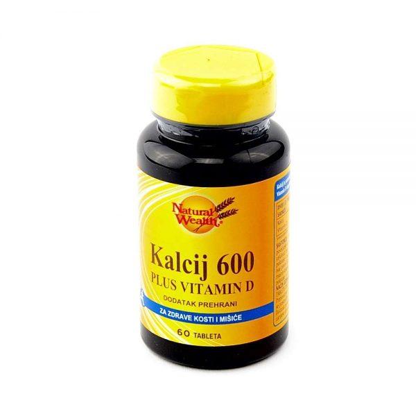 Natural Wealth® Kalcij 600 PLUS vitamin D