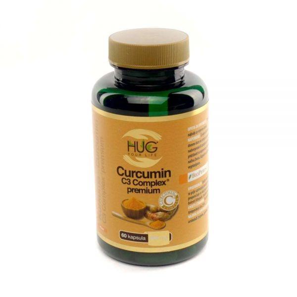 HUG Curcumin C3 Complex premium, 60 kapsula