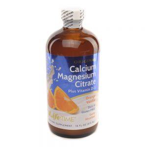 LifeTime Tekući Kalcij Magnezij citrat, aroma naranče, 473 mL