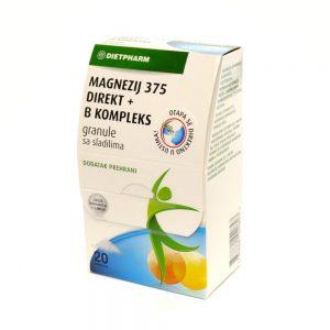 Dietpharm Magnezij 375 direkt+B kompleks