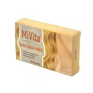 Hamapharm MiVita koža kosa nokti, 30 kapsula