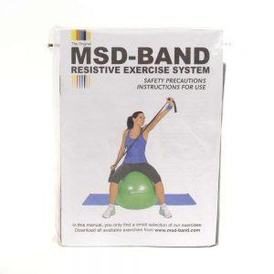 MSD traka za vježbanje, GYM crna, 2.5m
