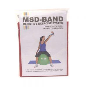 MSD traka za vježbanje, GYM crvena, 2.5m