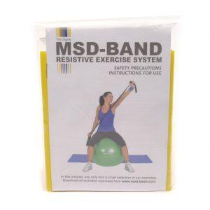 MSD traka za vježbanje, GYM žuta, 2.5m