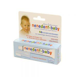Početna pasta za zube Nenedent Baby + silikonska četkica u obliku navlake za prst