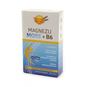 Natural Wealth® Magnezij More + B6, 20 kapsula