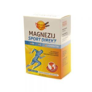 Natural Wealth® Magnezij Sport Direkt +B6 +C +L-karnitin, 20 vrećica