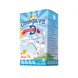 Salvit Omegavit D3 kapi za dojenčad i malu djecu, 15 mL