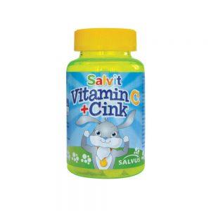 Salvit Vitamin C+cink, 60 želatinskih bombona