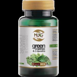 HUG Green Coffee & L-Carnitine kapsule - poticanje metabolizma masti